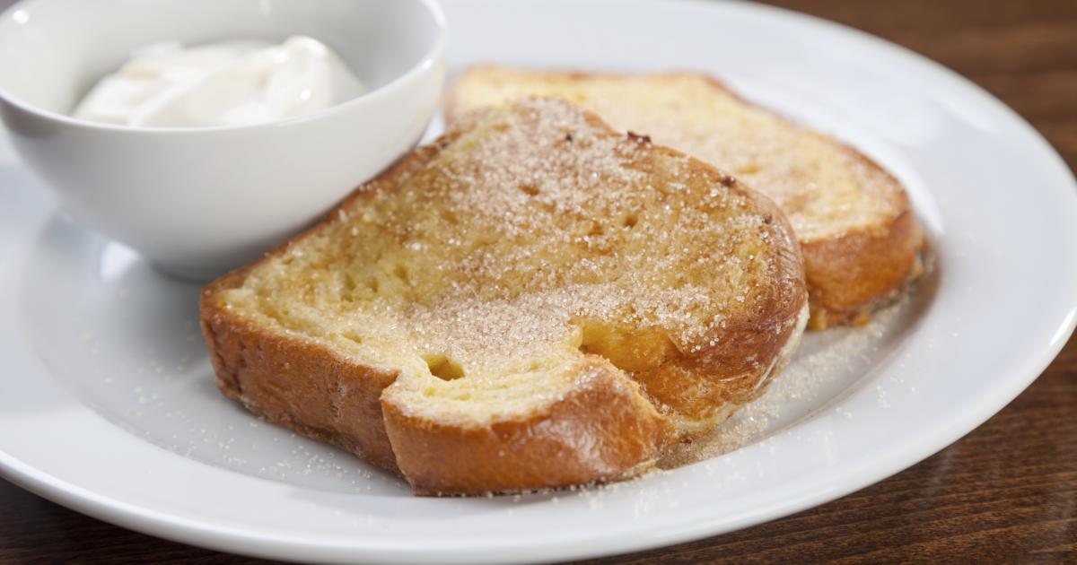 Cinnamon French Toast and Yogurt