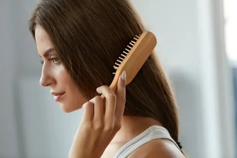 Less brushing and use of a comb